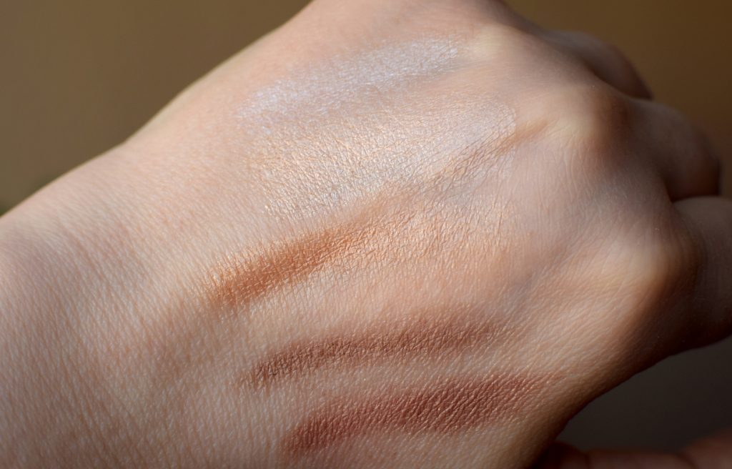 Swatches Living Luminizer, Magic Luminizer, Master Mixer, Contour und Buriti Bronzer RMS