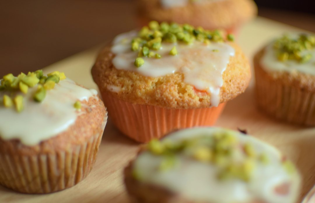 Rübli-Muffins mit Pistazien