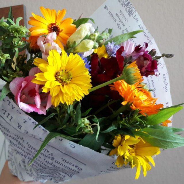 Blumen machen Freude! Ich wnsche euch allen ein schnes Wochenende!hellip