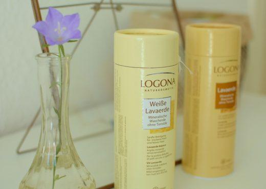 Weiße und braune Lavaerde zm Haarewaschen von Logona