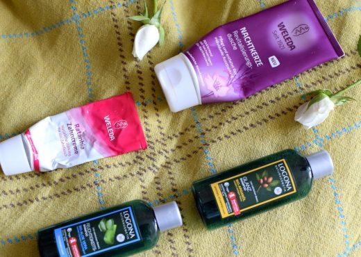 Aufgebrauchte Produkte -weleda und logona