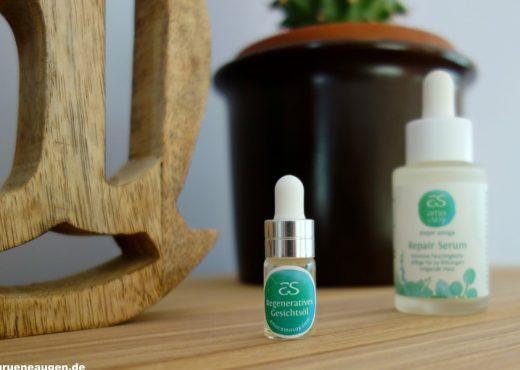 Bild von 2 amo como soy-Produkten, dem Gesichtsöl sowie des Serums