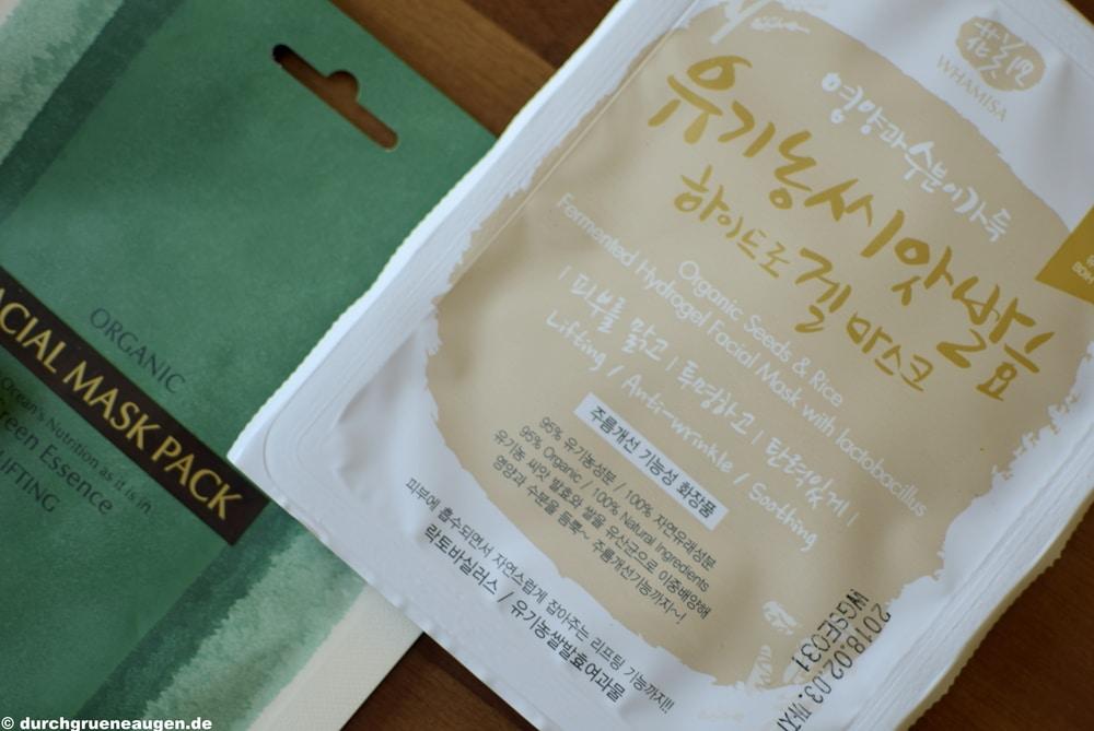 Organic Seeds & Rice und Kelp Maske von Whamisa